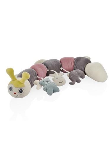 BabyJem 80 Cm Poky Oyuncaklı Tırtıl Bebek Uyku Arkadaşım Renkli